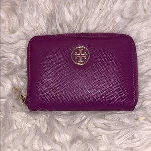 Tory Burch purple wallet/keychain